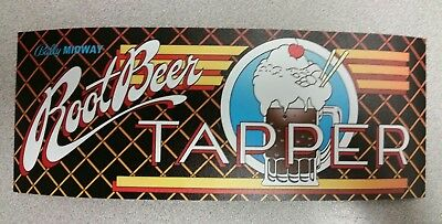 Root Beer Tapper arcade sticker. 4 x 10. (Buy any 3 stickers, GET ONE FREE!)