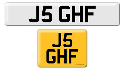 J5 GHF Private cherished personalised registration plate number