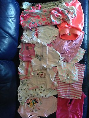 Bulk Baby Girl Clothes Size 000 (14 Items)