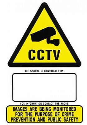 Rigid PVC plastic Security CCTV signs A4 & A5 Size High Quality