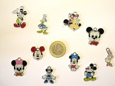 """10 tolle Schmuck Anhänger """"Micky Maus""""  Mickey Mouse  #M15"""