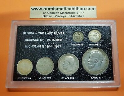 RUSSIA 1897-1915 The Last Silver Coinage 6 COINS ZAR NICHOLAS 5 KOPEKS 1 ROUBLE