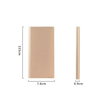 20000mAh Slim Dual USB Portable Rechargeable Battery Power Bank for Mobile Phone