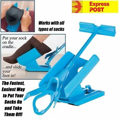 Sock Slider Easy on off Sock Aid Kit Shoe Horn Pain Free No Bending Stretching A