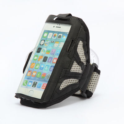 Grey Premium Sports Mesh Running Armband Case Cover Holder For iPhone 8 7 6 PLUS