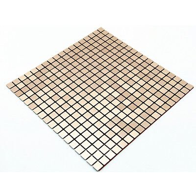 3D Mosaic Wall Sticker Aluminum Metal Wall Panel Self Adhesive Thick Tile Decal