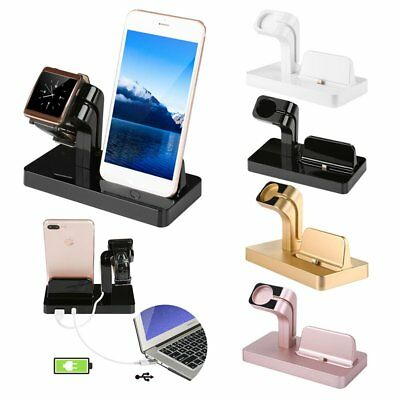 Charging Dock Stand Station Charger Holder For Apple Watch iWatch iPhone lot HD