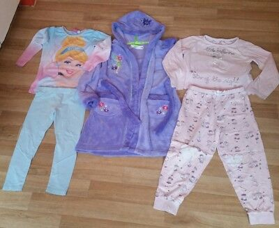 girls pyjamas and dressin gown age 5-6 years