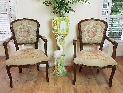2 Of4 Vintage French Louis Style Tapestry Dining/parlour/bedroom Chairs/armchair