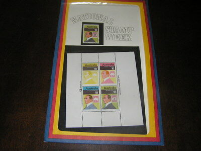 1976 National Stamp week Miniature Sheet with First Day Cover. BARGAIN!