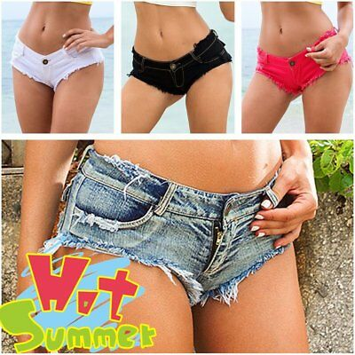 Sexy Women Mini Hot Pants Jeans Micro Shorts Denim Low Waist Shorts New GT
