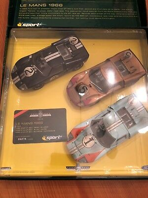SCALEXTRIC SET C2529A Goodwood 2003 Le Mans 1966 GT40 Ltd Ed. No. 06078 of 10000