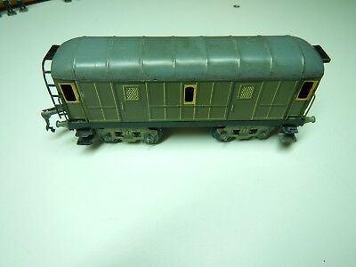 Jep O Wagon Fourgon Bagages Toit Noir Bogies Lithographie Id Hornby Lr Cr