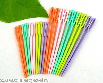 "1Set (20PCs) 2 3/4"" , 3 3/4"" Multicolor Plastic Sewing Needles"