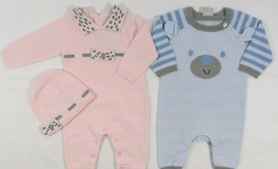 Baby Babies Girls Boys Spanish Romper All In One Striped Animal Print NB 3 6 M