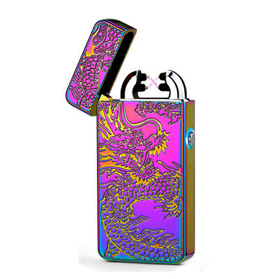 New USB Rechargeable Metallic Chameleon Flameless Windproof Electric Arc Lighter