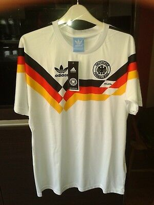 Deutschland,West Germany 1990 italia 90 football shirt world cup size large