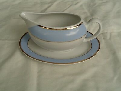 Royal Doulton 2004 Bruce Oldfield Gravy Sauce Boat And Saucer Underplate  VGC