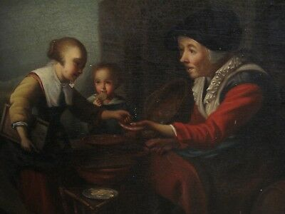 ANTIQUE ORIGINAL OIL PAINTING ON CANVAS Old Master European, Flemish? EARLY