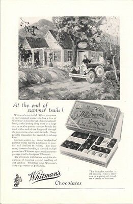Whitmans Sampler at the End of the Summer Trails Vintage Ad Candy