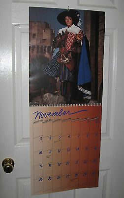 Michael Jackson official 1985 calendar with 12 HUGE Poster Size PHOTOS Thriller
