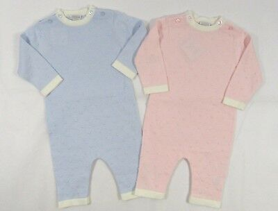 Baby Babies Girls Boys Romper Spanish All In One Spotted Polka Dots NB 3 6 M