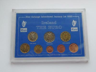 Ireland The Euro New Coinage Introduced 1st January 2002 - 8 x Coin Set 2002