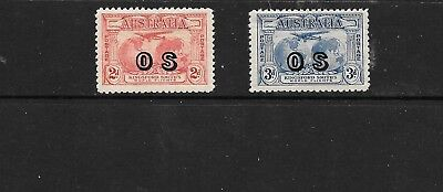 Stamps Aust Predecimal 1931 Kingsford Smith Optd O S  Set Mint See Below