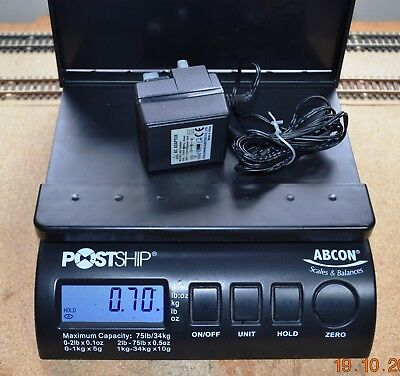ABCON POSTSHIP SCALES - Rechargeable batteries plus Power Transformer included