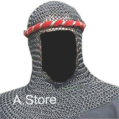 Armor Chain Mail Coif Butte Chainmail Hood Knight Armour Hood