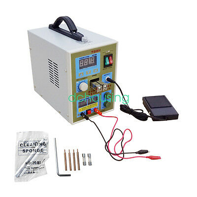 788H LED Dual Pulse Spot Welder 18650 Battery Charger 50 - 800 A 0.1 - 0.2 mm