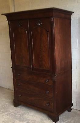 William IV Mahogany Linen Press  circa 1830