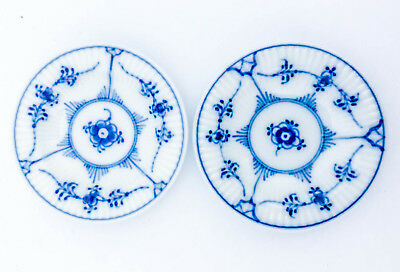 2 Small plates #7 - Blue Fluted - Royal Copenhagen - 1st Quality