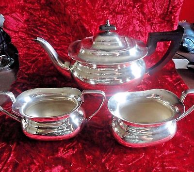 A Fine Silver Plated Vintage 3 Piece Tea Set by Viners of Sheffield
