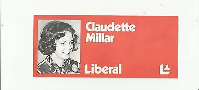 1970's CLAUDETTE MILLER LIBERAL PARTY CANADA CAMBRIDGE ONT CANDIDATE  BROCHURE