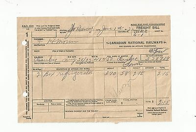Canadian National Railways Freight Bill Cnr Invoice
