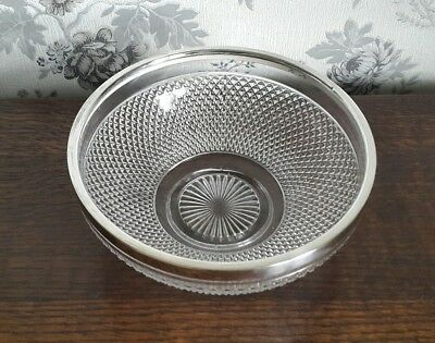 A Lovely Vintage Silver Plated and Cut Glass Bowl