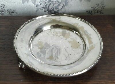 A Vintage Silver Plated Bowl with Claw Feet