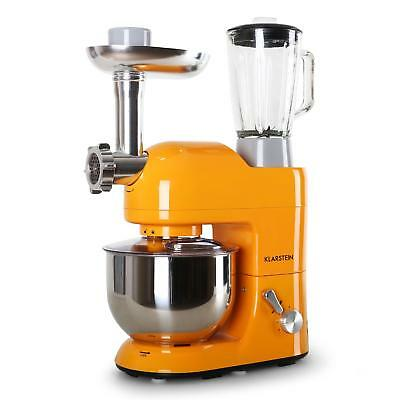 Klarstein Lucia Orange 1200W Kitchen Blender Food Processor Meat Mincer Mixer