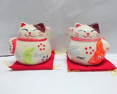 NEW 1pc Mini Ceramic Cute Cat Lucky Fortune Cat Money Bank Gift Table Office Dec