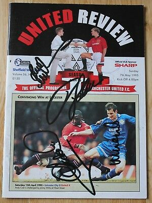 Manchester United Signed Programme 1995 Beckham Keane Giggs Neville & Others
