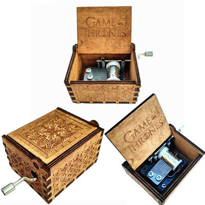 Game of Thrones - New Handmade Engraved Wooden Music Box crafts Theme Artisanal