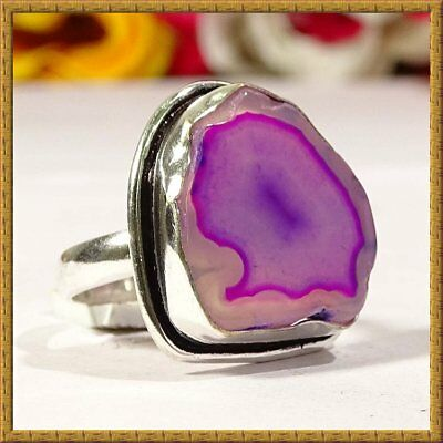 Awesome Designer Druzy Gemstone 925 Silver Ring S-8 36931