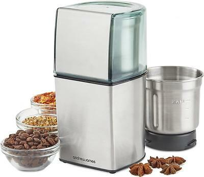 Andrew James Electric Wet & Dry Coffee Bean Nut Spice Grinder Mill Blender