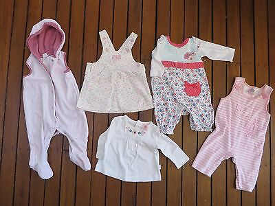 Girl Winter Bulk 5 Items Baby Size 00 (3-6 mths) Pink Overalls Pumpkin Patch Top