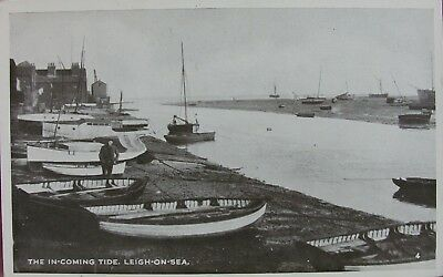 The In-Coming Tide At Leigh On Sea Essex Early Pc