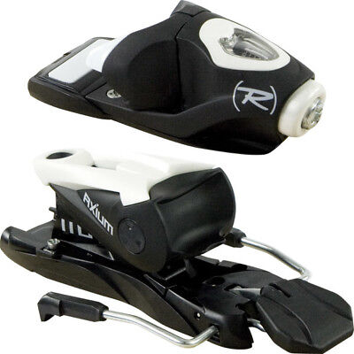 NEW LOOK ROSSIGNOL AXIUM 110 SKI BINDINGS BLACK WHITE BRAKE 120 fo FLAT MOUNTING
