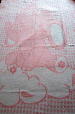 """Children's Blanket """" Elephant Rose """" 100% Cotton! Made in Germany"""