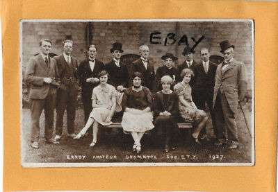 Early Real Photo Postcard Earby Amateur Dramatic Society 1927 Nr. Coln