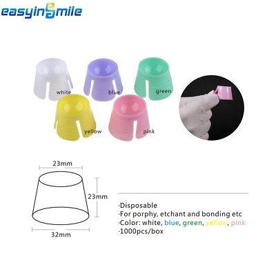 100 Pcs EASYINSMILE Dental Multi-purpose Dappen Dish/Bowls Disposable Mix Color
